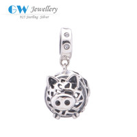 Yiwu Factory Direct Sale European Beads Pig Charm 925 Sterling Silver