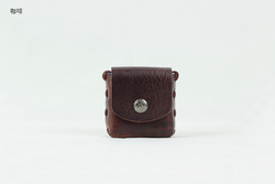 Pure aniline small leather goods manufacturers mini coin wallet coin collection case