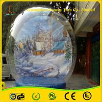 0.8mm thickness PVC/TPU/Tarpaulin Inflatable Snow Globe, Christmas decoration tent