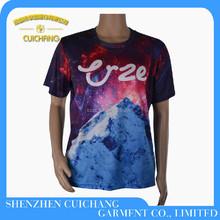 Men's sublimation printing polyester Custom t-shirt