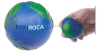 Mini blue rubber basketball for kids