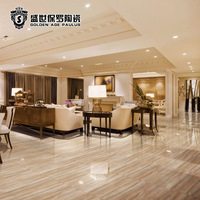 Interior decoration 800x800 Full polished glazed china porcelain tile floor tiles with sand stone design from China S8203