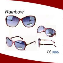 2015 New model fashionable bright color name brand sunglasses manufacture