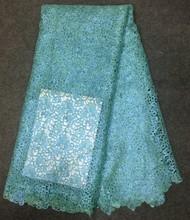 Novo estilo applique bordados rendas flor de tecido vestidos da menina roupas africano senhora
