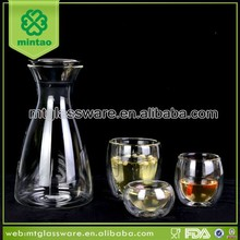 Attractive silver plated turkish glass tea set