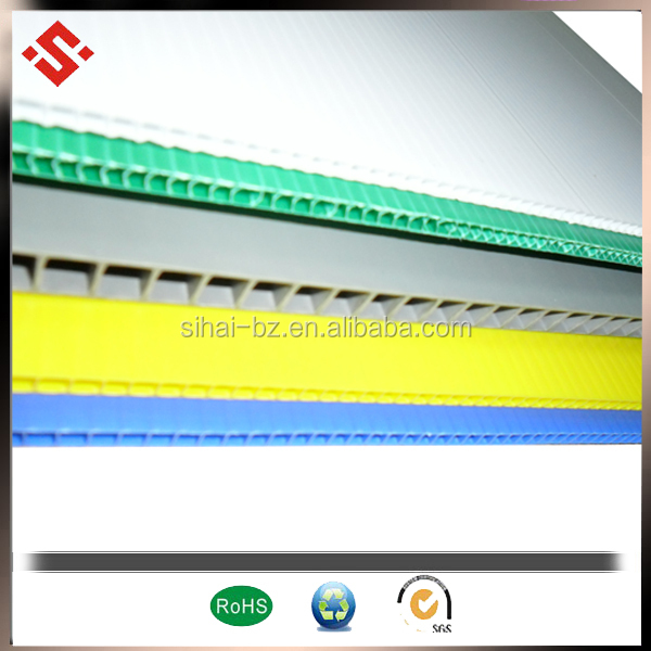 colorful corflute sheet