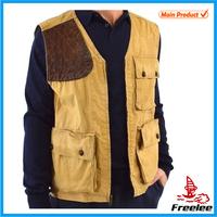 Freelee Patch Shoulder Fishing Cotton Safari Vest