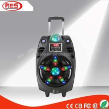 dancing wireless mini powered portable speaker with trolley and wheels digital echo karaoke mixer