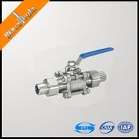 SS304 Sanitary ball valve manual 1 1/2'' ball valve PN6-63