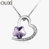 Fashion heart shape fine jewelry wholesale thailand, crystals from swarovski