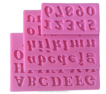 3D English Letters & Numbers 3d silicone audi cake mold fondant cake mold hand cake mold