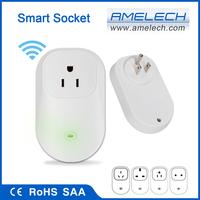 Power Monitering 110V White Canada App Controlled Smart WiFi Light Socket Plug Adapter