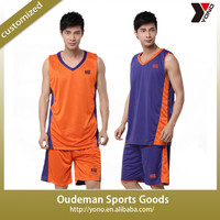 2015 Wholesale reversible cheap youth basketball uniforms for sale