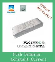 900ma 1200ma 1500ma 1800ma 60w PUSH DIMMING LED driver with CE cert