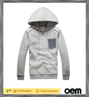 2014 Cheap High Quality mens Custom Plain fleece man grey black hoodie