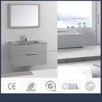 Hangzhou WUXING Factory bathroom vanity / wall cabinet /bathroom furniture set with glass basin, mirror