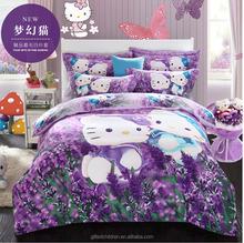 100% cotton kids bedding set, high quality brushed microfiber 4 pieces comforter set