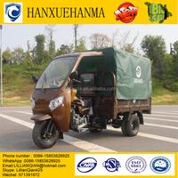 doubel three wheels garbage motor trike/ trimoto de carga with tent