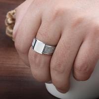 Charm Logo of dull polish ring titanium steel ring luxury jewelry high quality men's ring