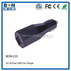 2015 High Quality 3.1A output solar mobile phone charge/battery car charger
