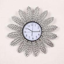 Fashion Design Large Wall Clock Diamond Metal Wall Clock