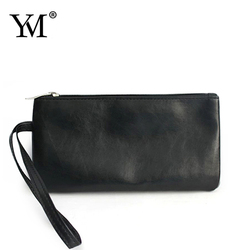 2015 shiny PU leather metal chain waterproof cosmetic bag