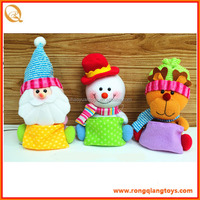 top sell 9inch plush christmas toys with candy bag DO36212ABC
