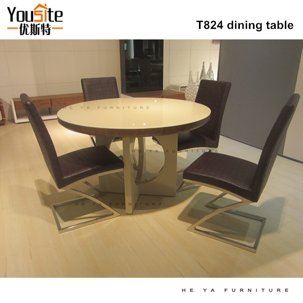 Latest designs of modern dining table and chair buy for Latest dining table designs pictures