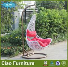 indoor rattan wicker swing egg chair