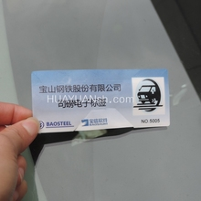 Vehicle use long reading distance uhf (rfid))-Windshield Label for Automatic Vehicle Access