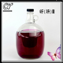 2L california wine bottle with small handle and screw mental plastic cap wholesale