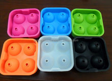 2015 Hot Selling 4 cup silicone ice ball makers