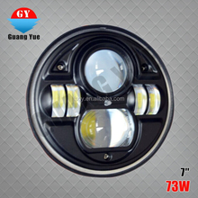 10-32v 7 inch round 73w led headlight , ATV UTV & truck led forward driving headlight