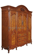Palace Style Antique Carved Solid Wood Wardrobe