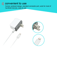 MFI Certified - Rapid 2.4 Amp Wall Travel Charger with 3 Foot Cable for Iphone 6, 5, 5s, 5c, Ipad Mini, Ipad Air