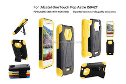 Manufacturer V2 trifecta kickstand hybrid phone case for alcatel one touch pop astro 5042t