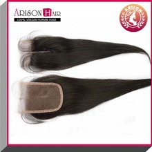 2014 Qingdao whosale factory price top quality virgin hair v part lace closure