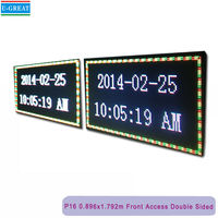 "Double Sided Outdoor Full Color LED Programmable Sign Front Access 16mm 73.7""*38.4""v"