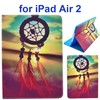 Color Printing Design PU Flip Leather Case Cover for iPad Air 2 with Stand and Card Slots