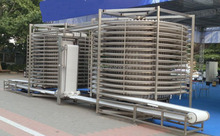 Large Production Food Industry Double Spiral IQF Fruit Freezer for Strawberry