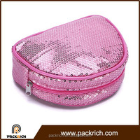 Hot sell polyester bright colour custom makeup bag