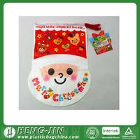 festival santa drawstring bags/santa sacks with cheap promotional price
