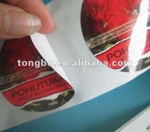 OEM accept custom colorful printing promotional label sticker