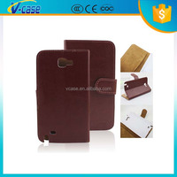 Newest leather flip case cover for samsung galaxy note gt-n7000 i9220