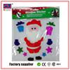 Factory offer self-adhesive santa claus 3d gel sticker, 3d silica gel sticker