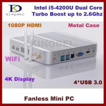 Latest 1920*1080 Intel i5-4200U mini desktop computer 4GB RAM+32G SSD+640G HDD,USB3.0, WiFi, Win 7/8