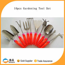 2015 Wholesale 10pcs With Rubber Coated Handle Names Garden Tools