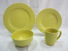 New fashion embossed rim royal china dinnerware