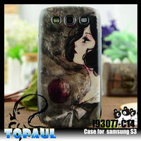 Custom hard PC mobile phone cover for Samsung S3 with 3D image