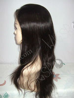 100% human hair all hand tied cute wigs for women